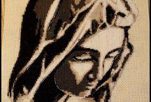 Piękna Madonna - haft krzyżykowy  Beautiful madonna cross-stitch