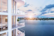 EXTERIOR / Marina Palms Yacht Club & Residence brings the yachting lifestyle back to Miami with the first luxury condominium and yacht club project in two decades. Situated on over 750 feet of picturesque waterfront, Marina Palms offers stunning views over the marina, the Intracoastal Waterway, and beyond to the Atlantic Ocean.
