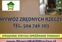 Opróżnienie mieszkań Wrocław, tel 504-746-203, opróżnianie mieszkań, likwidacja mieszkań Wrocław, / Opróżnianie mieszkania, tel 504-746-203, Wrocław, opróżnianie piwnicy, wywóz mebli z mieszkania, utylizacja mebli, wywóz zbędnych rzeczy, wywóz starych mebli, opróżnienie mieszkania ze starego wyposażenia. Kompleksowe wywożenie zbędnych rzeczy,  w domu, piwnicy starych gratów, sprzętu RTV, AGD.  Wywożenie, demontaż, sprzątanie  gabarytów. Odbiór wersalki, narożnika, wywóz odpadów po remoncie. Wywóz pozostałych śmieci po przeprowadzce. http://www.omegaplus.home.pl/wywoz_utylizacja_wroclaw/