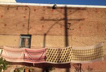 On My Clothesline / Fabrics I've dyed get hung out to dry.  / by Graham Keegan