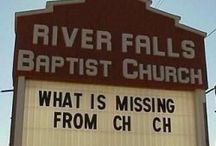 CHURCH SIGNS / Church signs from around the country