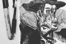 My Art and Sketchbooks / Art from my sketchbooks that I have posted online, linked to Pinterest for yourrrrrrrrrr pleeeasssureeeeeeee,... Pictures here by Thomas Novosel (www.thomas-novosel.com).