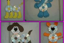 Recycle cd into craft