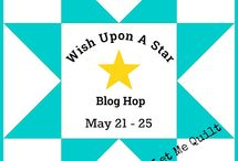 Wish Upon A Star Blog Hop / Quilts and sewing projects with stars