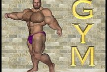 [YouTube] Hairy Bodybuilder Muscle Bear / Bodybeef models preview