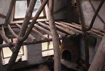 round wood timber frame