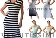 Vestito abito donna lungo vestiti mare abiti spiaggia righe boho vestitini Vs34