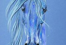 Koně kresba