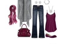 Burgandy outfits