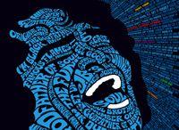 Typographic album covers