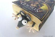 crochet rat bookmark