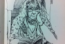 People watching - sketchbooks / I have been keeping sketchbooks for over 25 years, often drawing the great characters that I see on my daily travels, in cafes, on trains, on tv. If they catch my eye, they are going in the book!