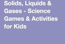solids liquids and gasses