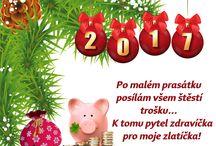 Přání Vánoce a Nový rok