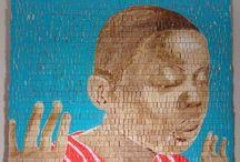 Fascinating artist :AIMÉ MPANE