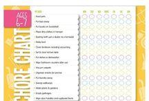 Chore Charts for Homeschool Kids