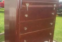 Annie Sloan Chalk painted furniture Before & After