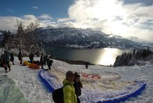 Winterflights / Check out the latest pictures from this winter. Paragliding high above the swiss alps at Interlaken.