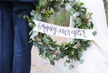 Wedding Wreaths / Wreaths, symbolising a circle of unity, are the prefect way to show your personality and can be used in a number of creative and individual ways.