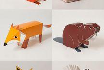 animales papel