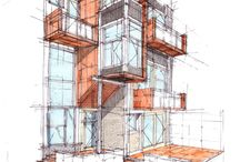 Architectural sketches, drawings / Design