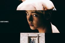 BTS / a kpop group of 7 members under BigHit Entertainment Jin, Suga, J-Hope, Rap Monster, Jimin, V, Jungkook bias: V