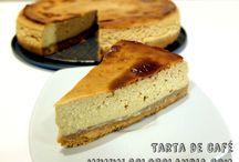 Tarta de café / Que pedazo de postre: Tarta de café Fácil receta casera, paso a paso.  http://www.golosolandia.com/2015/01/tarta-de-cafe.html