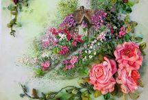 Домики в цветах
