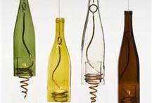 Upcycling wijnflessen