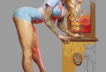 Pin Ups Artwork