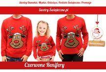 Swetry z reniferem / Swetry świąteczne z motywem renifera
