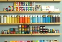 Craft and Art Spaces / by Leslie @ Chips Off The Old Block