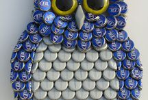 Bottle Cap Crafts / pullon korkista askartelu