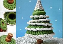 Boże Narodzenie- choinki - szydełko / Szydełkowe schematy, inspiracje