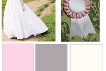 Jeannie Gold : Gray and Pink Rosette Ribbon Wedding / Design concept for a rosette ribbon themed wedding with a pink/gray/faille white color scheme. / by HiLLjO