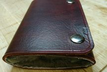 Fly wallet in leather