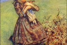 L'innocence enchantante d'un enfant / Paintings and photos of little children