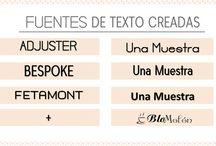 Fuentes / Fuentes de Textos