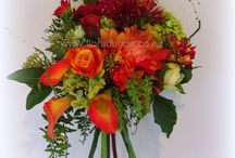 Bright colour silk flowers for wedding flowers / Bright colours and Boho look for fabulous weddings with artificial flowers
