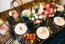 Dinner Parties / Food, Dining and Table Settings