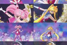 Sailor moon and sailor chibimoon crystal