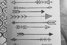 Arrow Tattoos.... / by Tina Maria