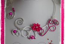 collier en fil aluminium / voici quelques un de mes colliers fait en fil aluminium