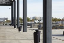 Public space litter bins / Nola provides a wide range of litter bins for public spaces. Playful scandinavian design for all needs. Solitary bins or waste separation.