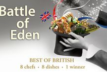 Battle of Eden 2016 / THE BATTLE OF EDEN CELEBRATES THE BEST OF BRITISH   Imagine your dream dinner party...you're already here!   This year we are celebrating the best of British and revelling in all that is unique about our chefs, produce from our wonderful local suppliers and home grown ingredients from our own kitchen garden corners of this green and pleasant land. Roll up roll up, and secure your seat for the best dinner party in town – tally ho!   Eight chefs, eight dishes, one winner...you decide.   #BOE2016