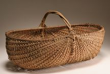 baskets / Antique baskets and new baskets made by crafts people