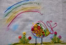 Passarinhos / passarinhos bordados