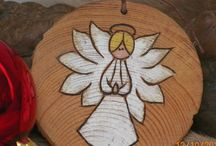 Woodburning ornaments and jewelry