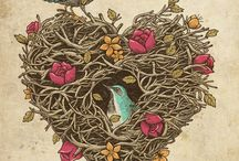 Birds & Nests / by Burlesonlady