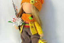 Apró textilbaba, handmade Dolls